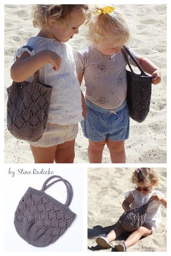 Small Sunrise Beach Bag Free Knitting Pattern
