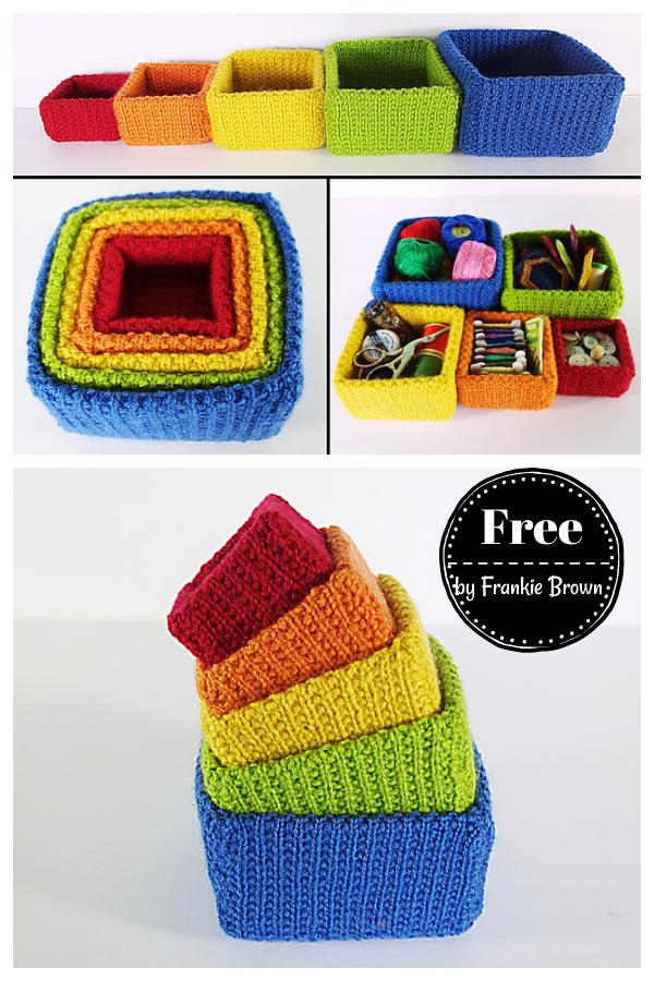 Square Nesting Boxes Free Knitting Pattern