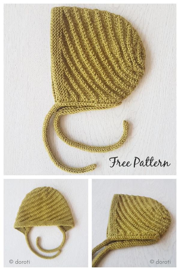 Twister Baby Bonnet Free Knitting Pattern