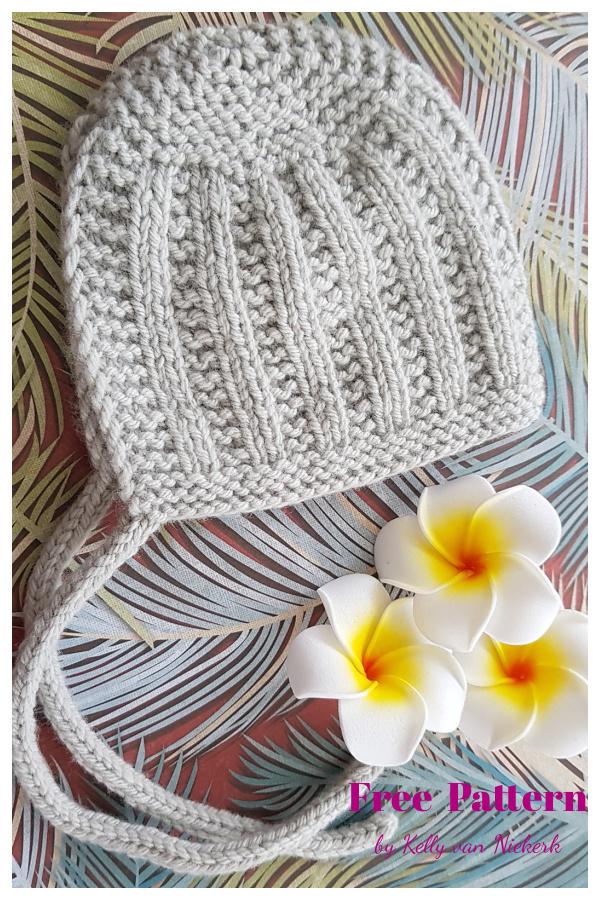 Wee Morrie Baby Bonnet Free Knitting PatternWee Morrie Baby Bonnet Free Knitting Pattern