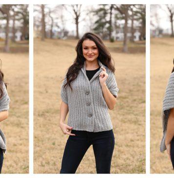 Easy Button Shawl Free Knitting Pattern