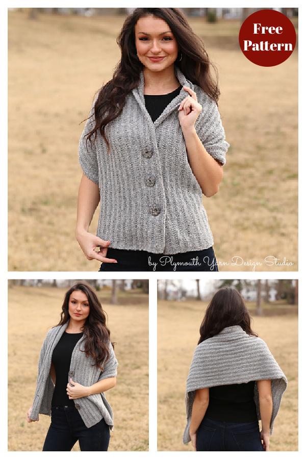 Modèle de tricot sans châle facile à boutonner