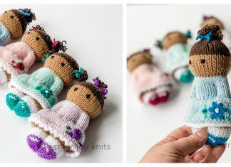 Flower Girls Doll Free Knitting Pattern