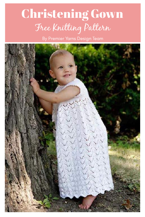 Lily of the Valley Christening Gown Free Knitting Pattern