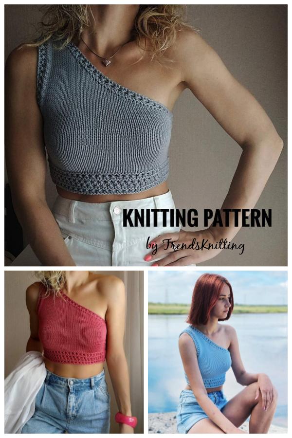 One Shoulder Tank Top Knitting Pattern