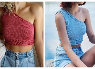 One Shoulder Tank Top Knitting Patterns