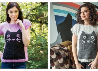 Professor Meow Pullover Knitting Pattern