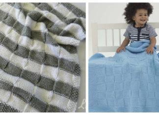 Basketweave Baby Blanket Free Knitting Pattern