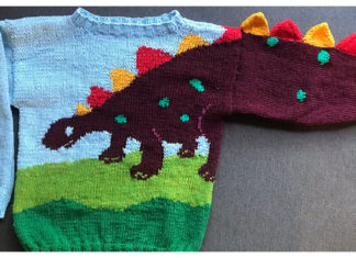 Dinosaur Sweater Free Knitting Patterns