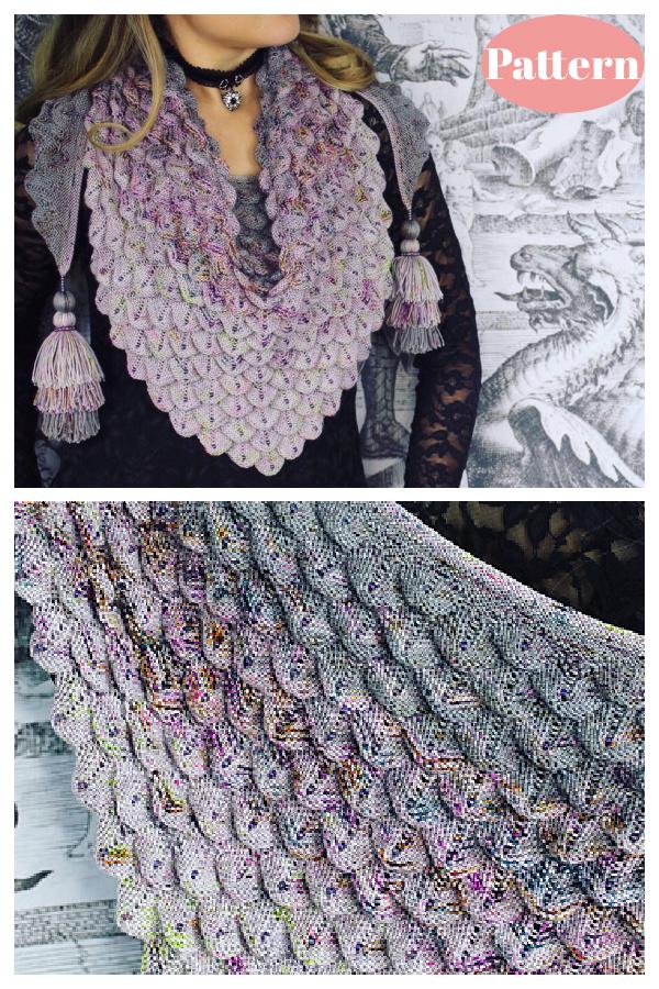 Dragon Shawl Knitting Pattern