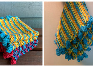 Easy Stripe Dishcloth Free Knitting Pattern