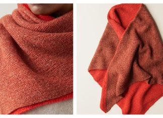Half + Half Triangles Wrap Free Knitting Pattern