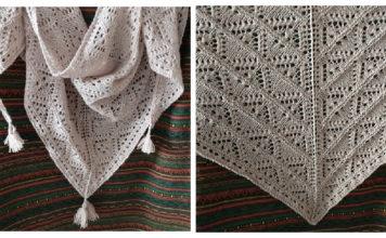 Hourglasses Lace Shawl Free Knitting Pattern