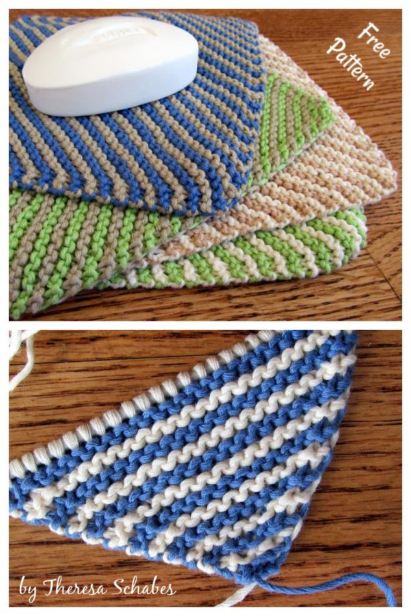 Killarney Stripe Washcloth Free Knitting Pattern