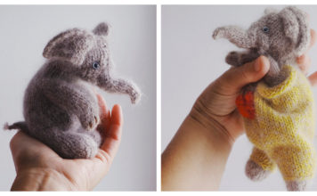 Little Elephant Free Knitting Pattern