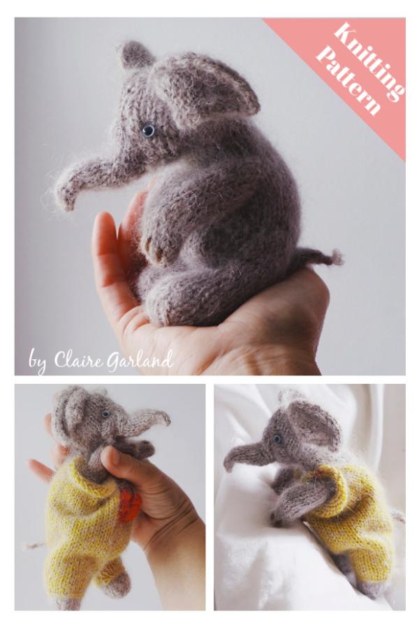 Little Elephant Knitting Pattern