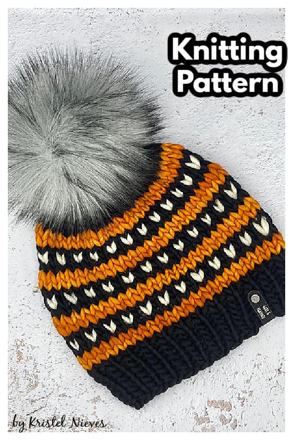Love Line Beanie Knitting Pattern