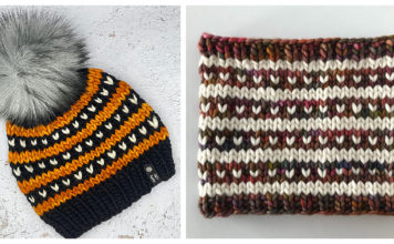 Love Line Beanie and Cowl Knitting Pattern