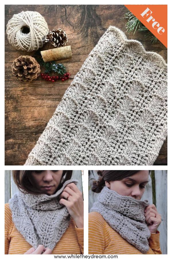 Northwoods Cowl Free Knitting Pattern