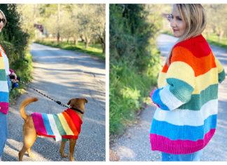 Rainbow Cardigan Free Knitting Pattern