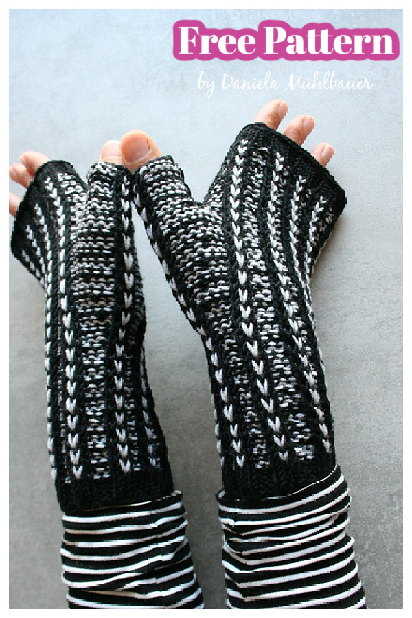 Rhia Fingerless Mitts Free Knitting Pattern