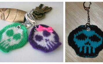 Skully Keychain Free Knitting Pattern