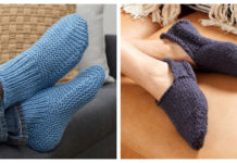 Slipper Socks Free Knitting Pattern