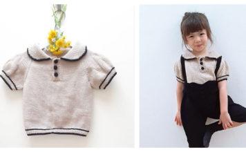Sweet Girl Shirt Free Knitting Pattern