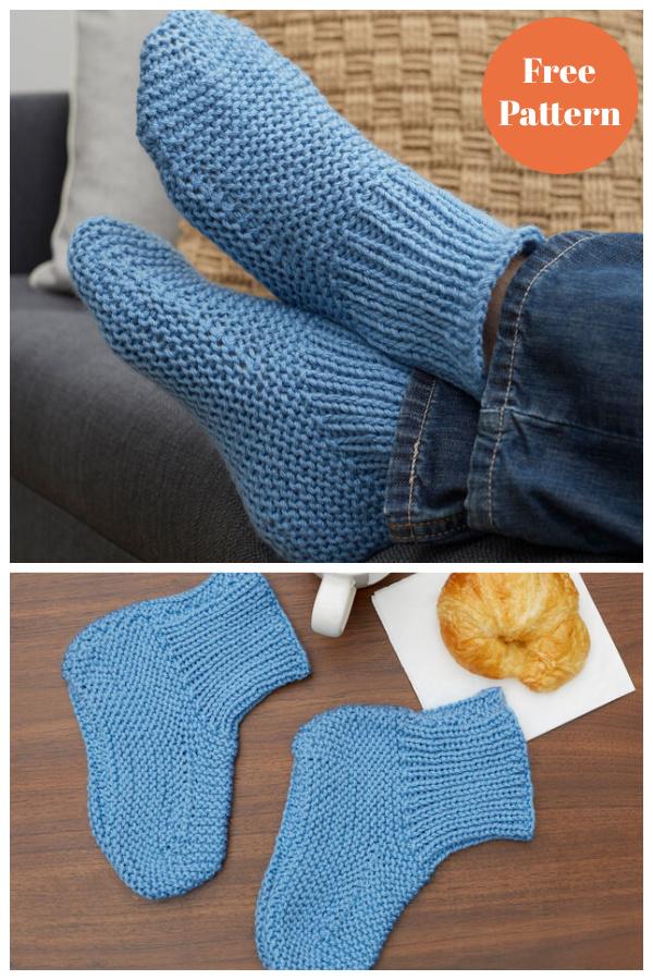 Time Off Slipper Socks Free Knitting Pattern