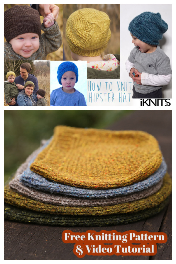 Barley Family Hat Free Knitting Pattern and Video Tutorial