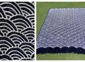 Blue Sea Blanket Free Knitting Pattern