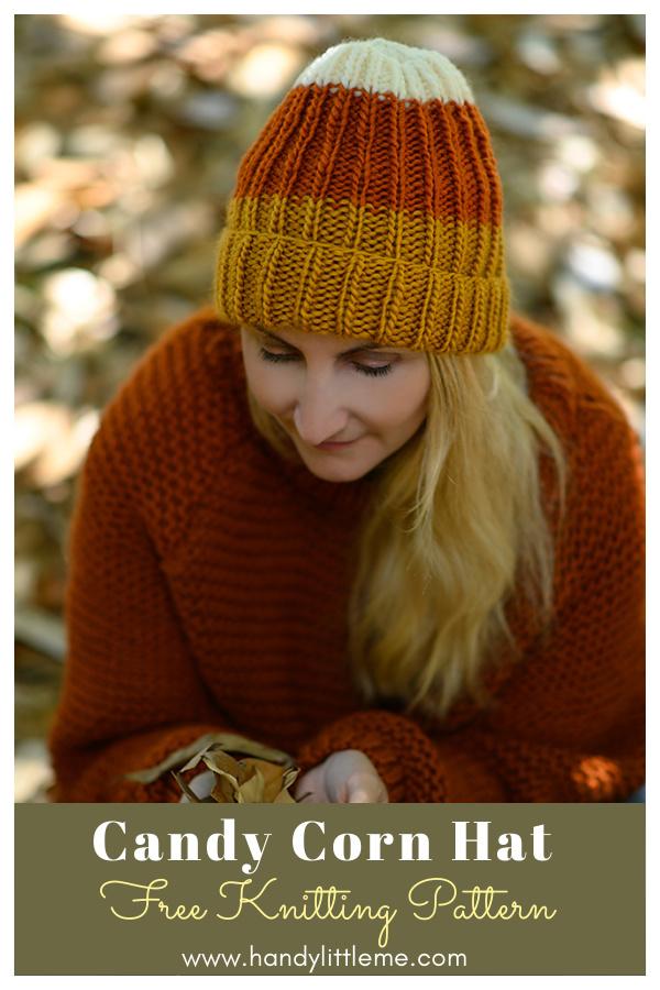 Candy Corn Hat Free Knitting Pattern