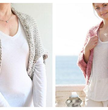 Cocoon Shrug Free Knitting Pattern