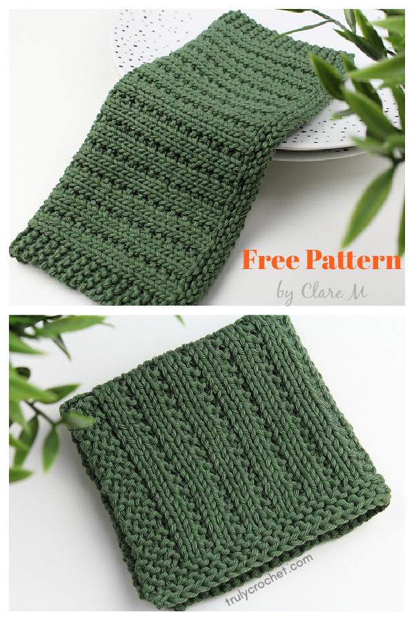 Cove Dishcloth Free Knitting Pattern