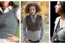 Cropped Vest Free Knitting Pattern