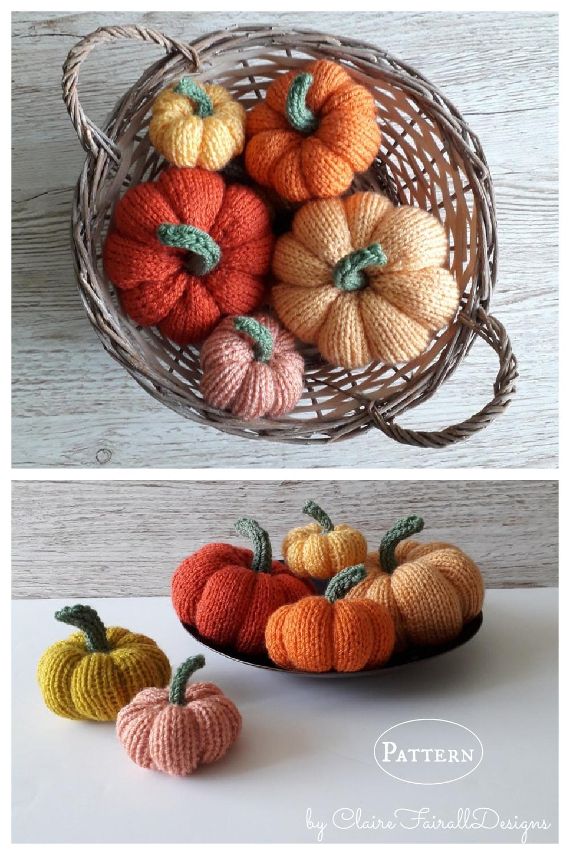 Easy Knitted Pumpkin Knitting Pattern