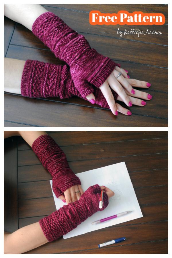 Gansey Wristers Free Knitting Pattern