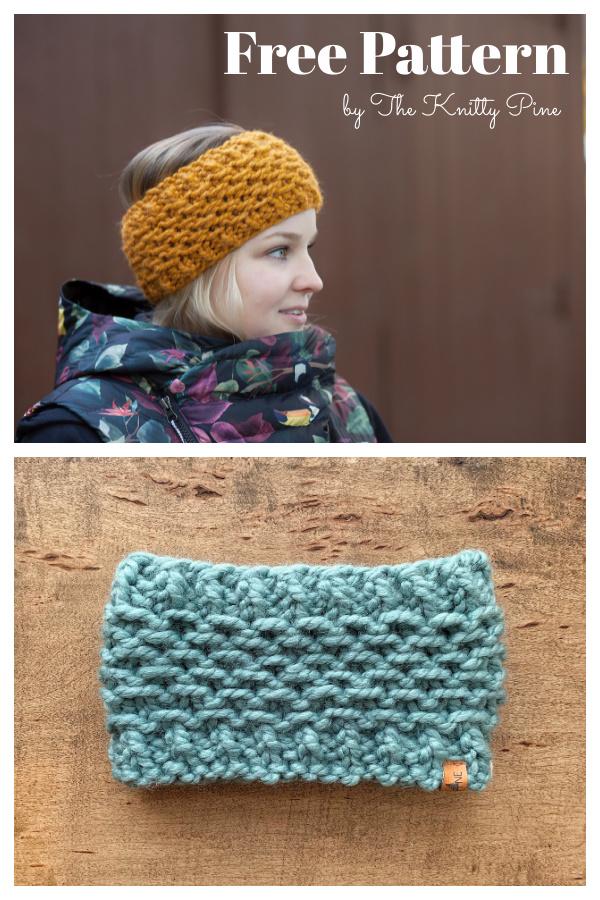Garibaldi Ear Warmer Free Knitting Pattern