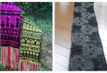 Halloween Scarf Free Knitting Pattern