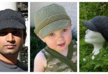Hat with Visor Knitting Free Pattern