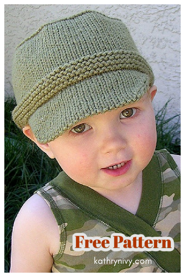 Kiddie Cadet Hat Free Knitting Pattern