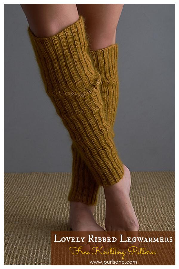 Lovely Ribbed Legwarmers Free Knitting Pattern