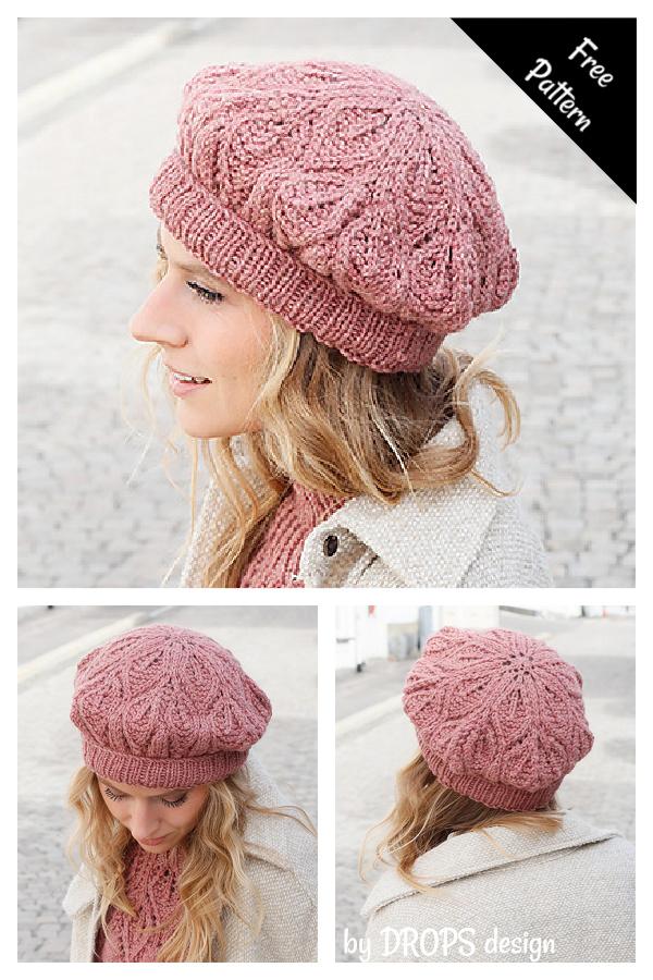 Posh Petals Beret Free Knitting Pattern