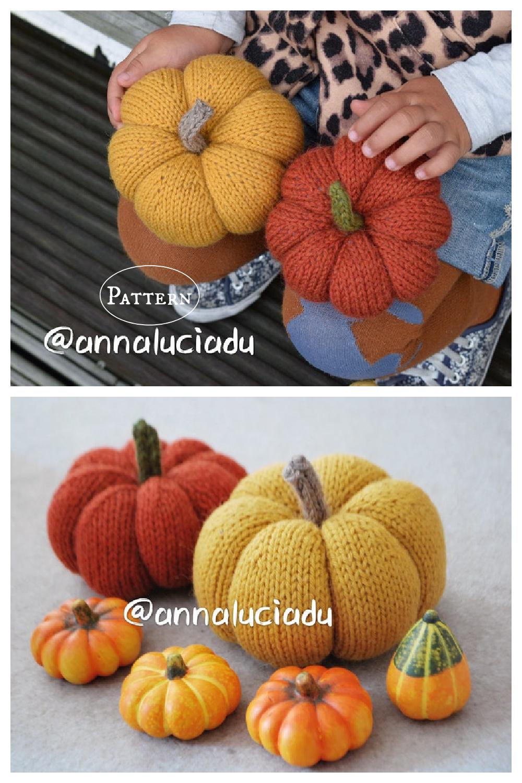 Pumpkin Amigurumi Knitting Pattern