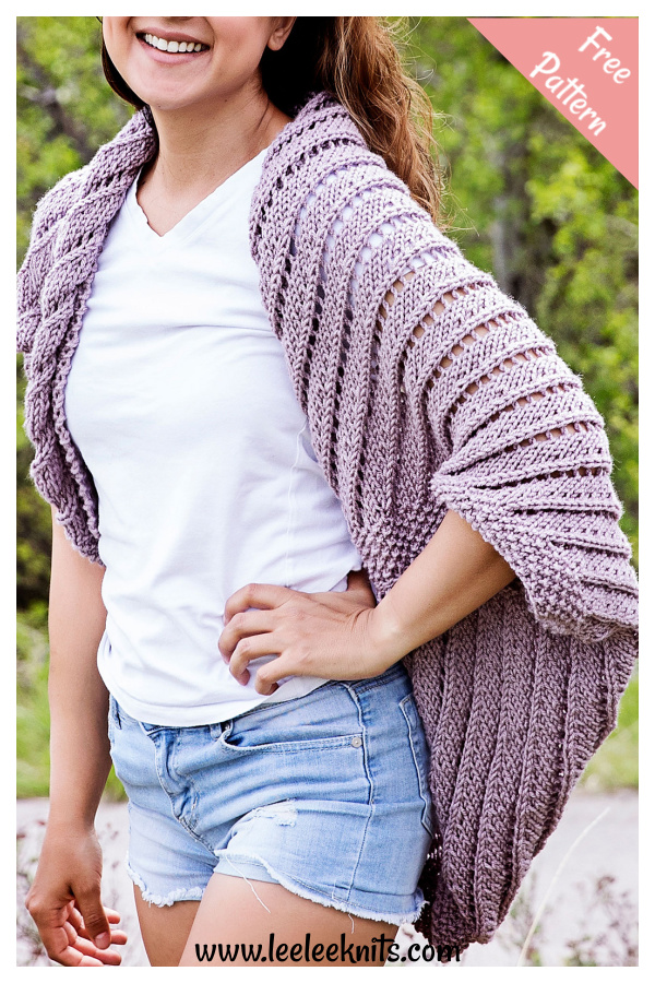 Summertime Cocoon Sweater Free Knitting Pattern