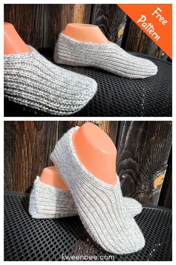 Super Simple Slippers Free Knitting Pattern