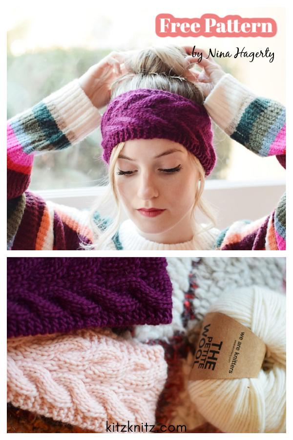 The Chrysalis Ear Warmer Free Knitting Pattern
