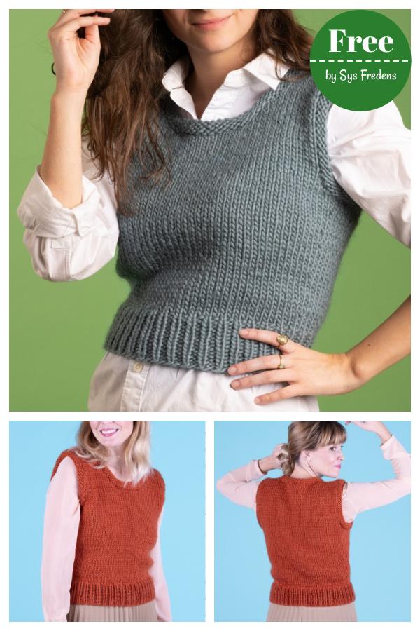 Vivi Kort Vest Free Knitting Pattern