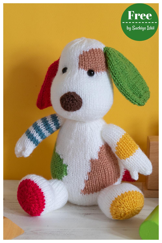 Colorful Puppy Free Knitting Pattern