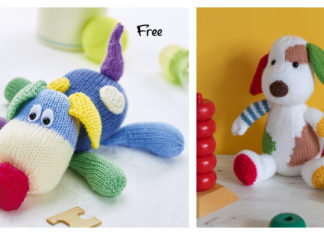 Colorful Puppy Knitting Patterns